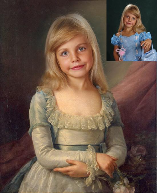 Фотоколлаж детский портрет 1